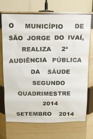 Audiência Pública da Saúde (Segundo Quadrimestre de 2014).