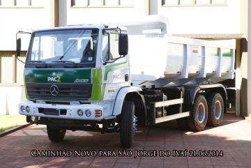 Caminhão PAC 2 - Aquisição através Ministério do Desenvolvimento Agrário - Governo Federal