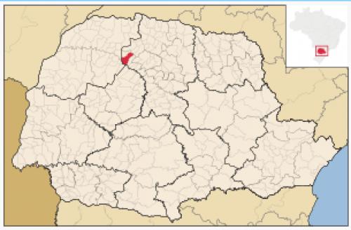 Localização de São Jorge do Ivaí no Paraná