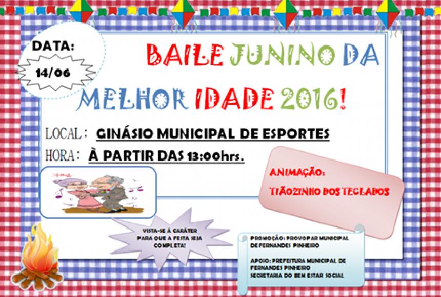 BAILE JUNINO DA MELHOR IDADE