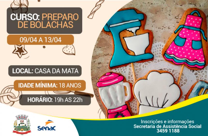 03 de Abril - Fernandes Pinheiro oferece Curso: Preparo de Bolachas.