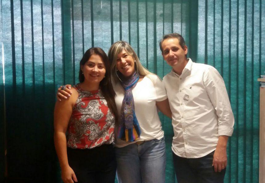 Secretária de Assistência Social Emanuelle de Matos, e o Secretário de Finanças Sidnei Antônio de Lima, participam do curso do FNAS em Brasília.