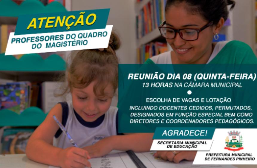 SECRETARIA DE EDUCAÇÃO CONVOCA