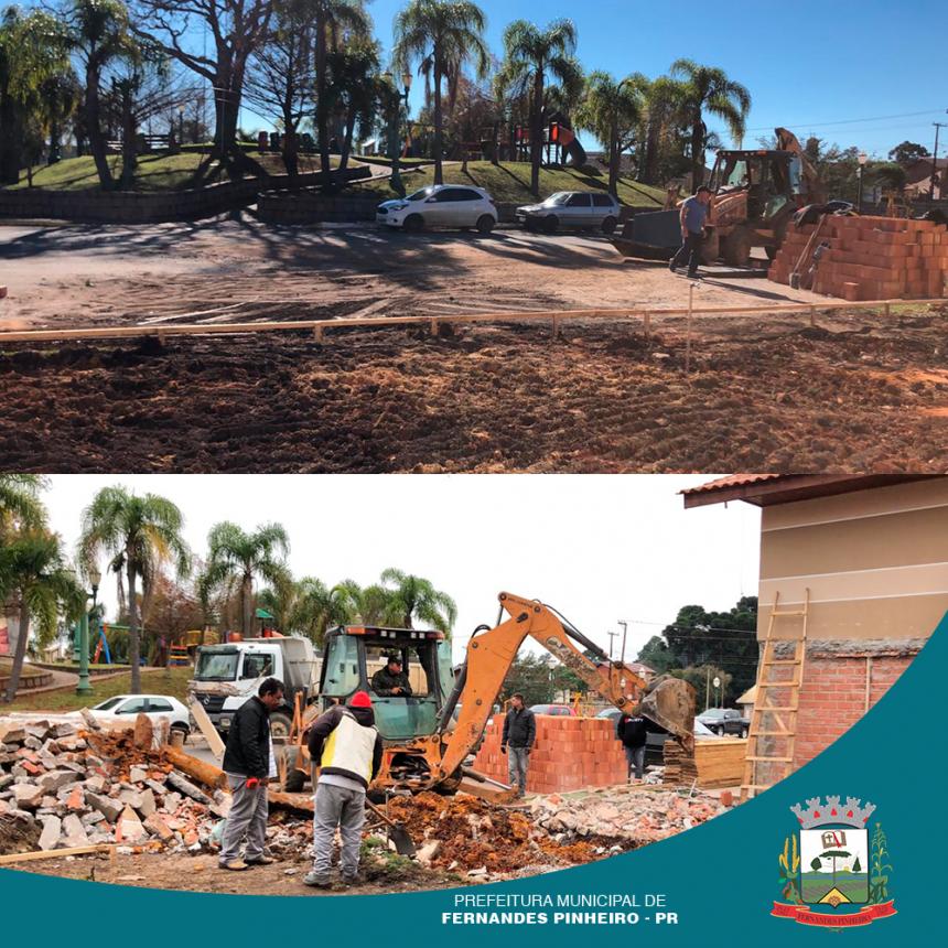 A Secretaria de Saúde informa que as unidades de saúde da Sede e Angai estão passando por obras de ampliação.