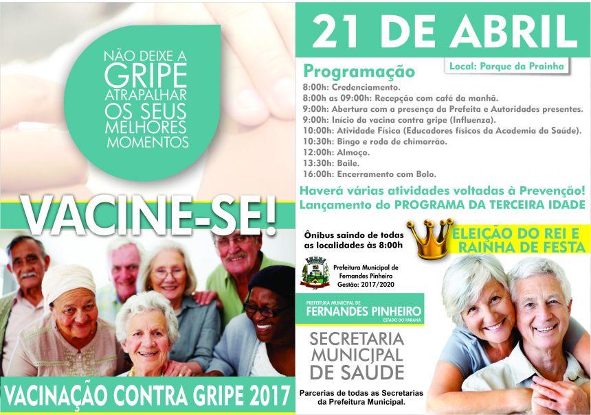 21 de Abril de 2017, Campanha de Vacinação contra Gripe!