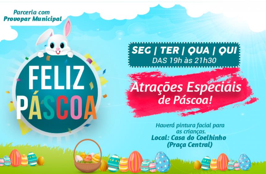 23 de março - Administração Municipal oferece atrações especiais na Casa do Coelho, na semana de Páscoa !!!