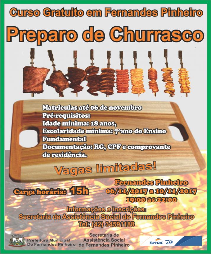 CURSO DE PREPARO DE CHURRASCO