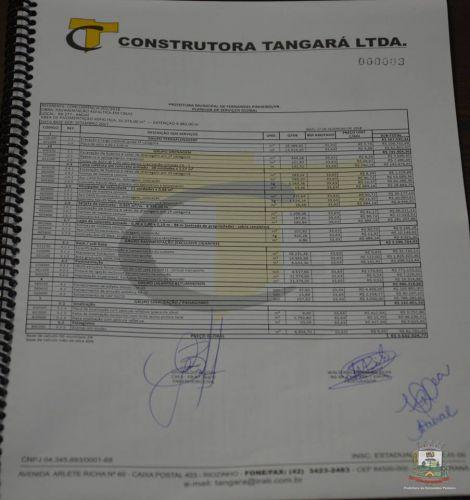 02 de Março: Empresa Tangará fará o asfalto entre a BR277 e Angaí.