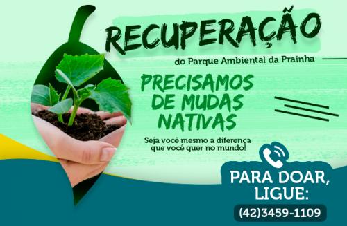 07 de Março: Faça a sua doação de Mudas Nativas ao Parque da Prainha.