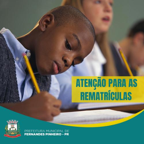 Secretaria de Educação abre prazo de rematrículas para 2019