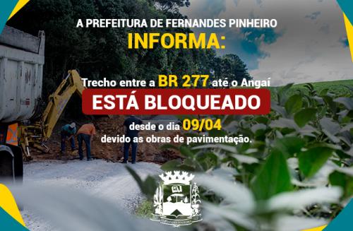 11 de Abril - Bloqueio do tráfego entre BR-277 e Angaí.