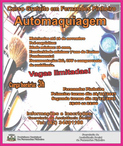 CURSO DE AUTOMAQUIAGEM