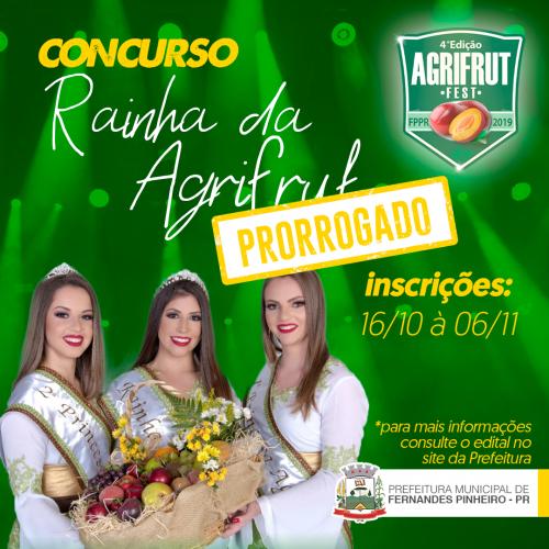 IV AGRIFRUT- CONCURSO DA RAINHA E PRINCESAS