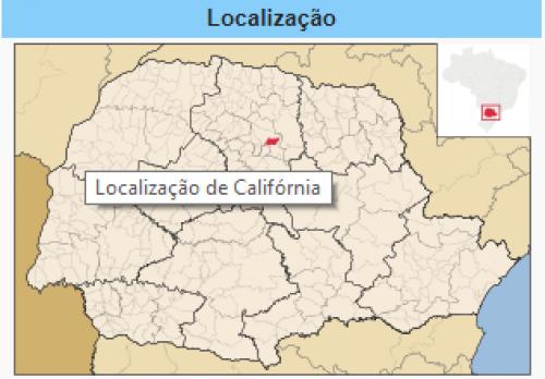 Localização do Município de Califórnia no Paraná.