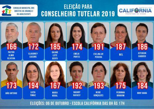 Candidatos Conselho Tutelar 2019