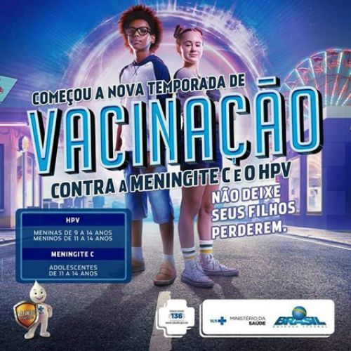 INTENSIFICAÇÃO DAS VACINAS CONTRA O HPV E MENINGITE  PERÍODO 13 DE JULHO A 31 DE AGOSTO.