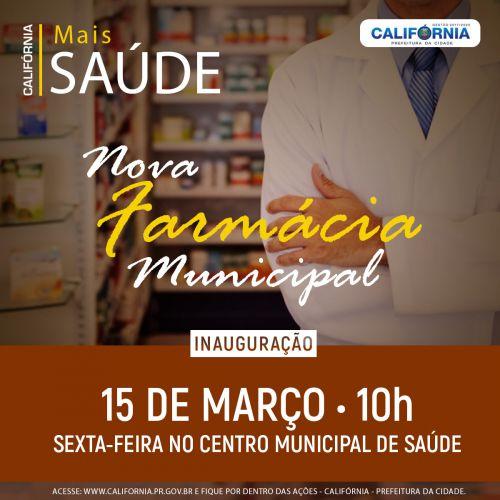 Inauguração Farmácia Municipal