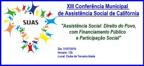 Conferência Municipal Assistência Social