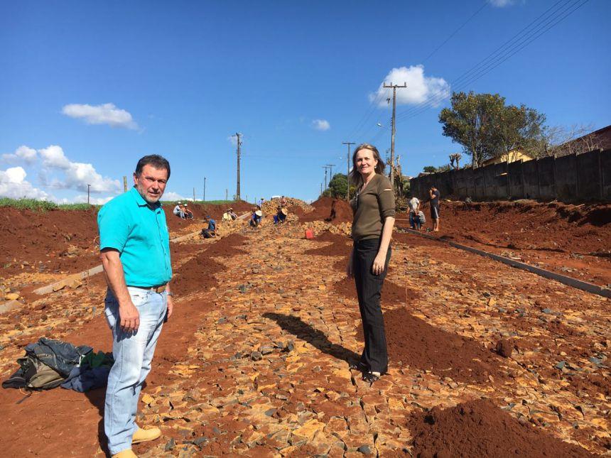 Obras de Pavimentação avança em Manoel Ribas