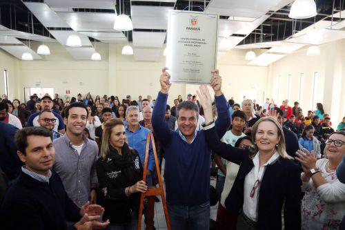 Governador inaugura Colégio Estadual de Ensino Profissionalizante (CEEP) em Manoel Ribas