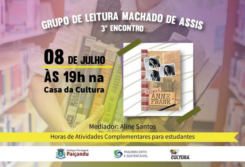 Terceiro Encontro do Grupo de Leitura Machado De Assis