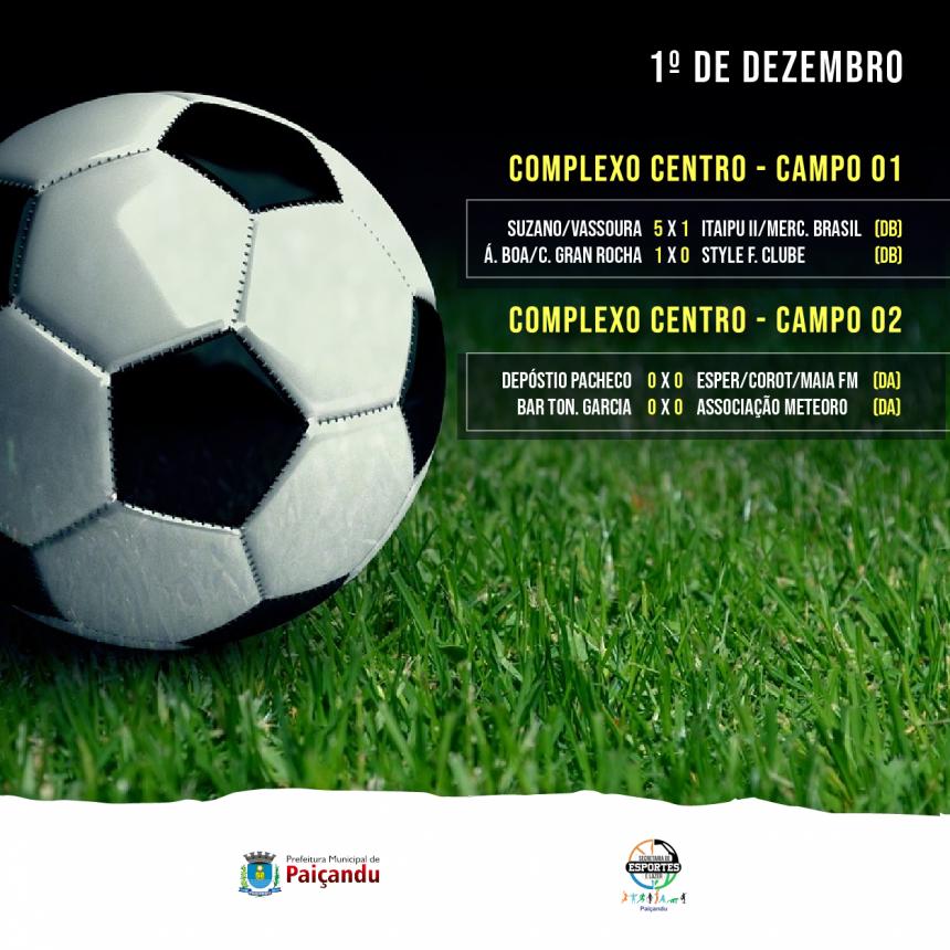 Resultados | Semifinais da quarta fase do 28º Campeonato Municipal de Futebol Suíço de Paiçandu