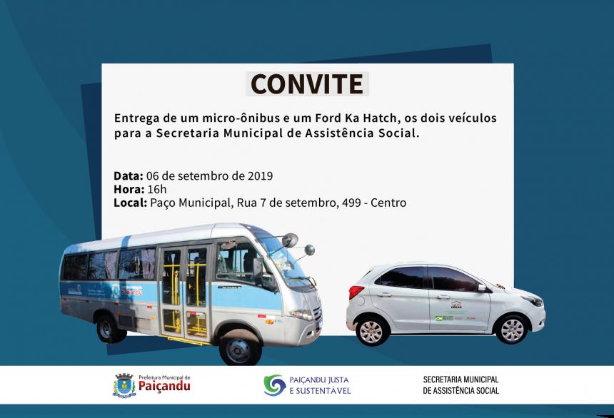 Convite   Entrega de veículos para a Assistência Social