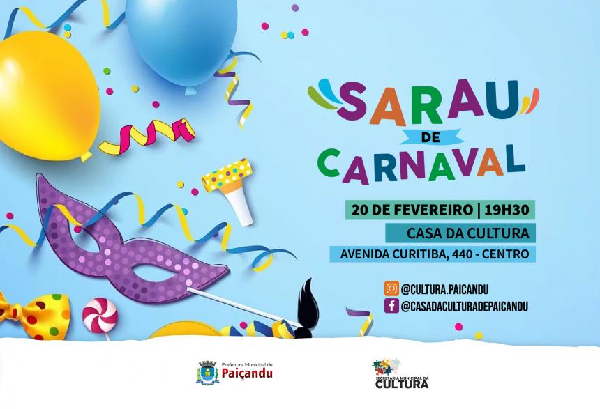 Convite | Sarau de Carnaval