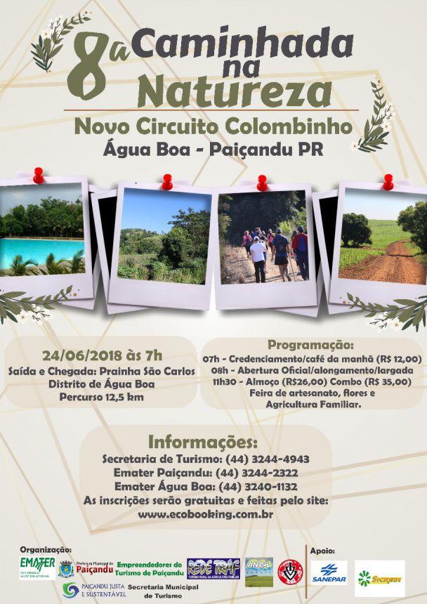 Inscrições abertas para a 8ª Caminhada na Natureza - Novo Circuito Colombinho