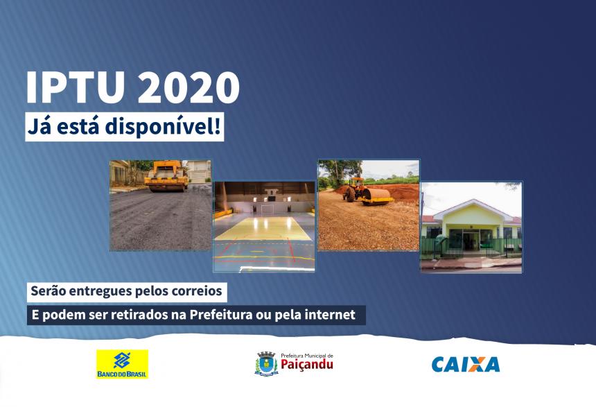 IPTU 2020 já está disponível