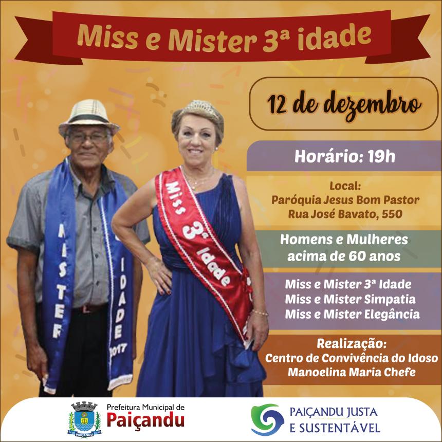 Miss & Mister Terceira Idade 2018