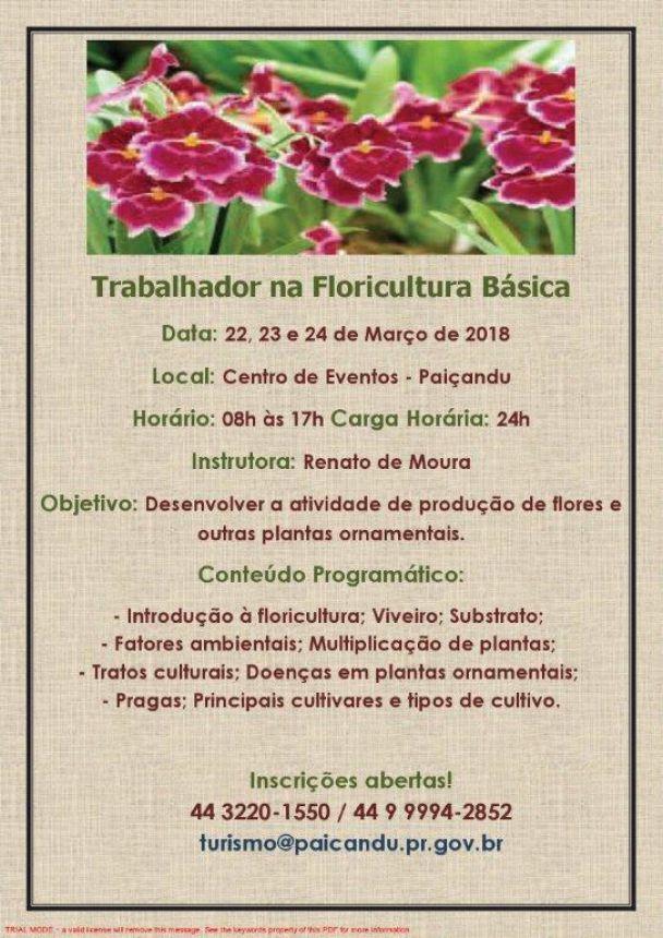 Trabalhador na floricultura básica