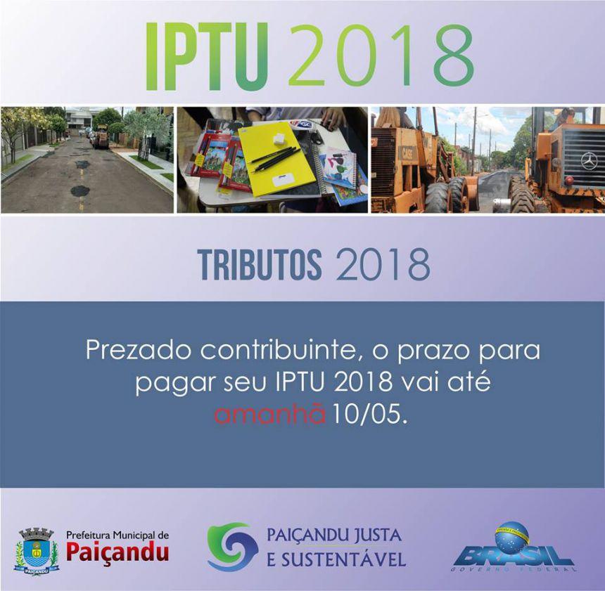 Prazo para pagamento do IPTU com 10% de descontos