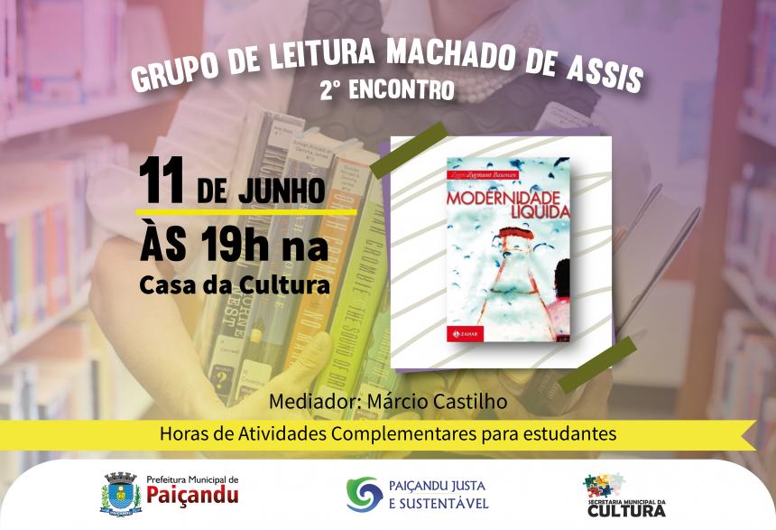 SEGUNDO ENCONTRO DO GRUPO DE LEITURA MACHADO DE ASSIS