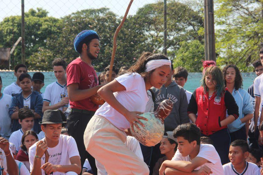 Oficina de capoeira da Casa da Cultura realiza apresentação