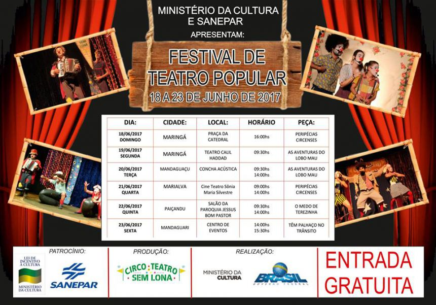 Ministério da Cultura promove apresentação de teatro em Paiçandu