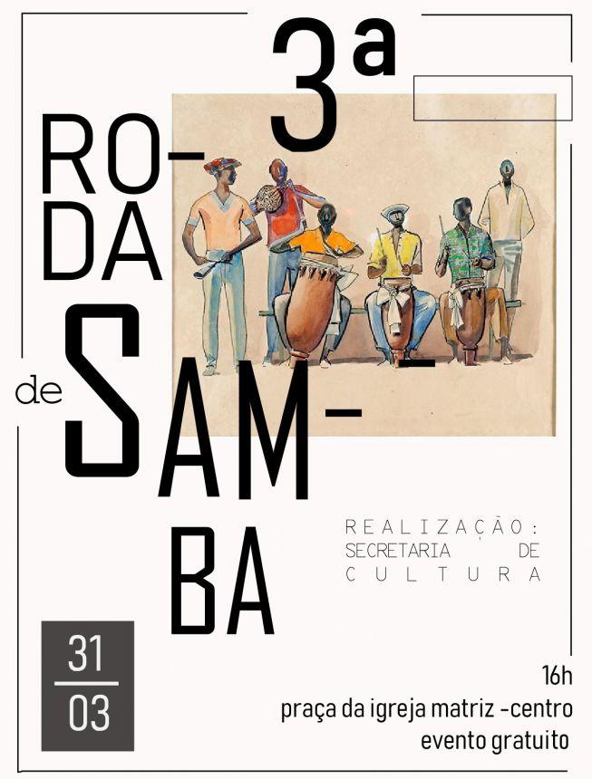 Convite 3ª Roda de Samba de Paiçandu