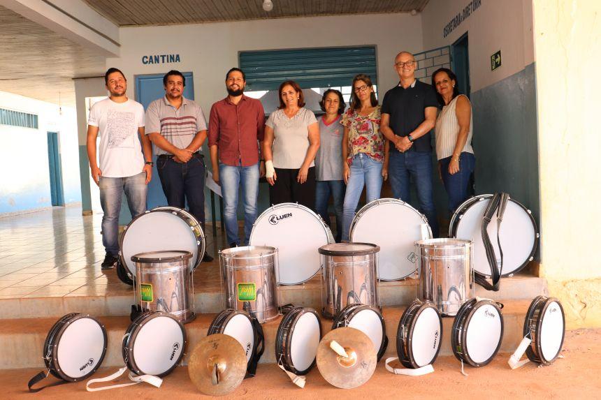 Prefeitura de Paiçandu, Secretaria Municipal de Cultura e Fundação Municipal de Educação levam curso de Fanfarra a Água Boa