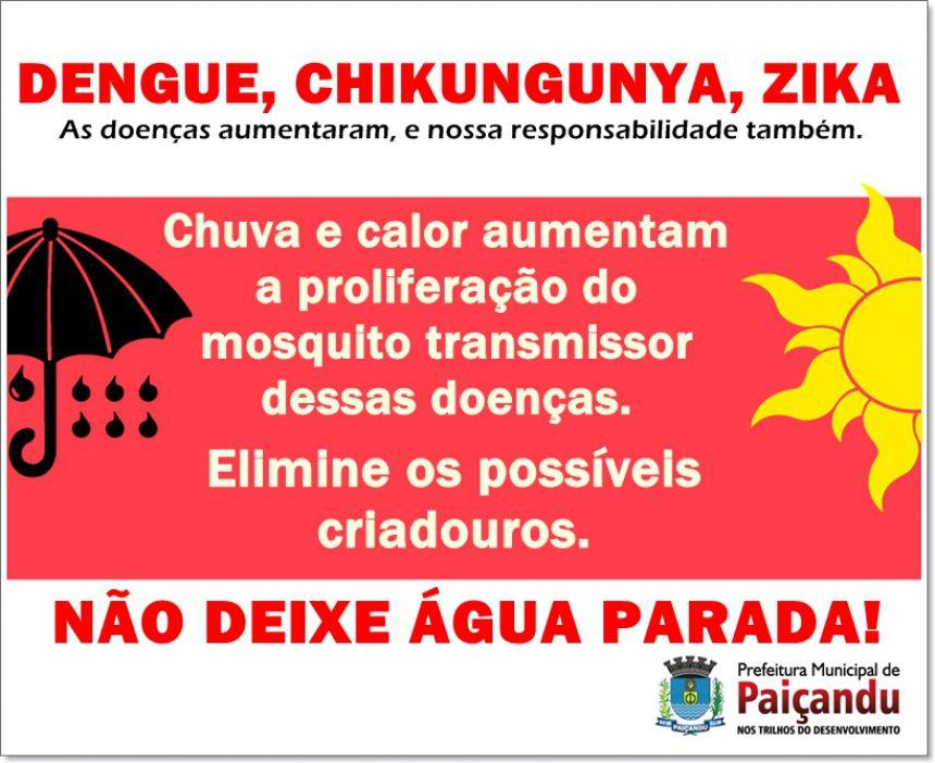 Dengue, Chikungunya e Zika - Precisamos da ajuda de todos no combate