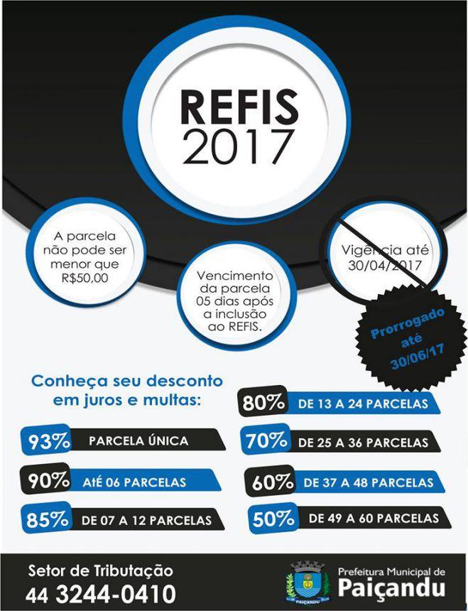 Prazo para pagamento do REFIS vai até dia 30 de junho