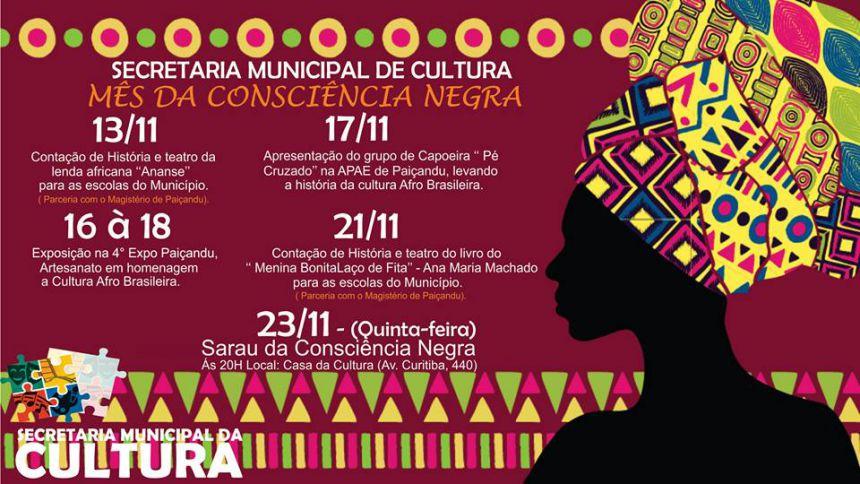 Secretaria da cultura promove atividades para celebrar o mês da consciência negra