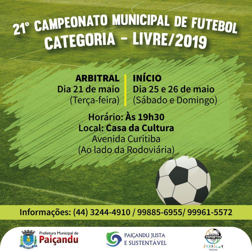 21º Campeonato Municipal de Futebol