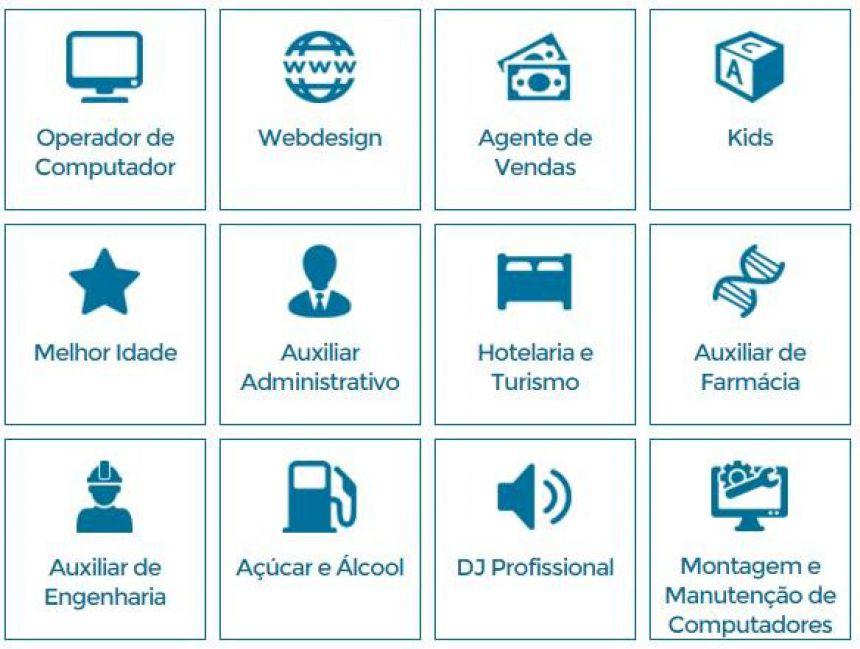 Telecentros oferecem cursos gratuitos em diversas áreas