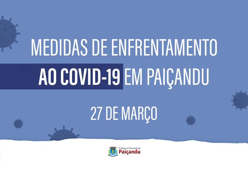 NOTA SOBRE AS MEDIDAS ADOTADAS POR PAIÇANDU À CERCA DO COVID19
