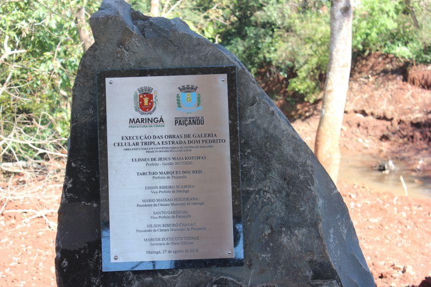 Inauguração da ponte que liga Paiçandu-Maringá na Estrada Dom Pedrito