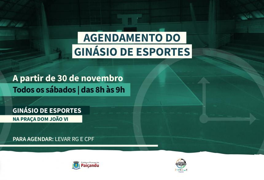Agendamento de horários - Ginásio de Esportes