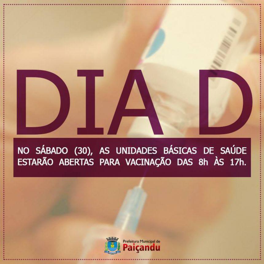"""Dia """"D"""" de vacinação contra a gripe será realizado neste sábado"""