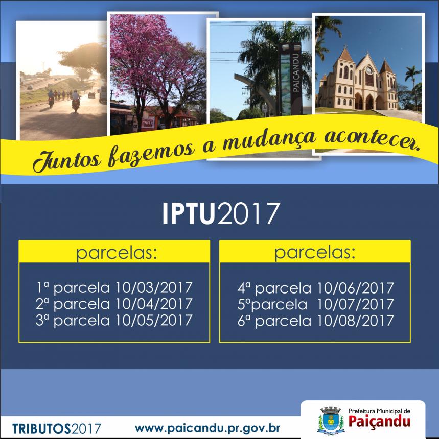 Parcelamento do IPTU 2017