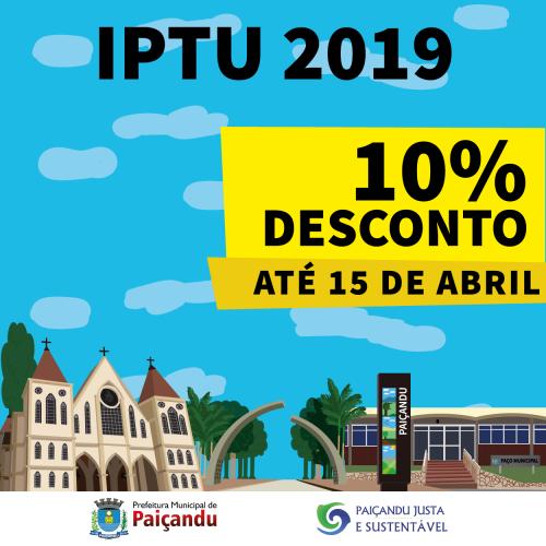 10% de desconto IPTU 2019