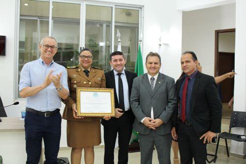 Coronel Audilene Rosa recebe título de Cidadã Honorária de Paiçandu